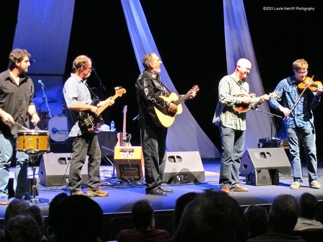 The Quintet L to R - Josh Kanusky, Butch Amiot, David Bromberg, Mark Cosgrove, Nate Grower