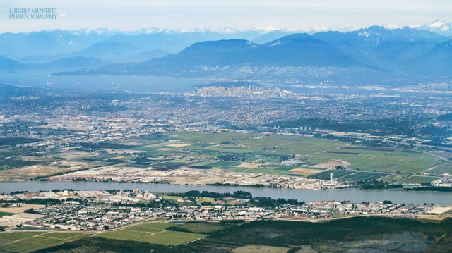 Preparing to land in Vancouver, BC
